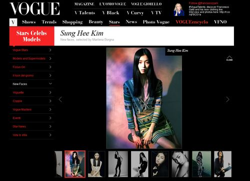 Sung hee blog italia vogue
